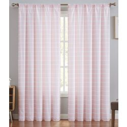 Truly Soft Maddow Stripe Blush Window Panel Pair