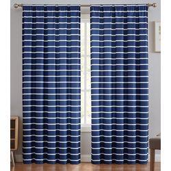 Truly Soft Maddow Stripe Blush Window Panel Pair