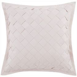 Charisma Home Riva Square Basketweave Decorative Pillow