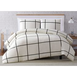 Truly Soft Kurt Windowpane Duvet Cover Set