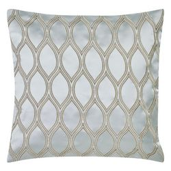 Charisma Home Tristano Square Embroidered Ogee Decor Pillow