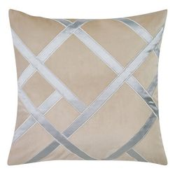Charisma Home Tristano Large Square Embroidered Decor Pillow