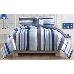 Kids Mason Stripe Comforter Set