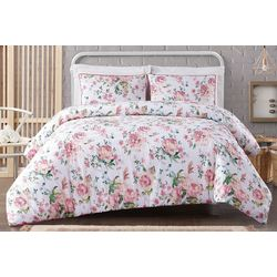 Cottage Classics Blooms Floral Cotton Seersucker Comforter