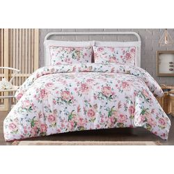 Cottage Classics Blooms Floral Cotton Seersucker Duvet Set
