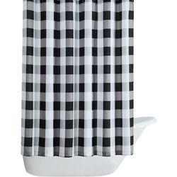 Truly Soft Buffalo Plaid Black Shower Curtain