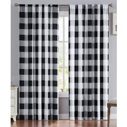 Truly Soft 2 Pk Everyday Buffalo Plaid Window Curtain
