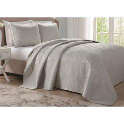 Laura Ashley Solid Microfiber Bedspread