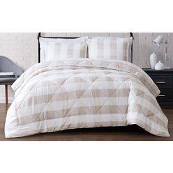Truly Soft Everyday Khaki Buffalo Plaid Comforter Set