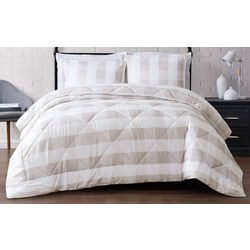Truly Soft Everyday Khaki Buffalo Plaid Comforter Set
