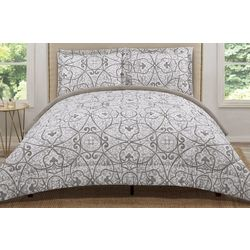 Truly Soft Grey Marcello Comforter Set