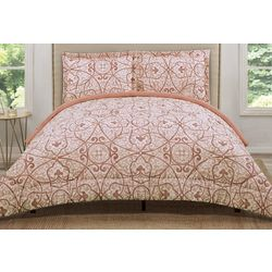 Truly Soft Coral Marcello Comforter Set
