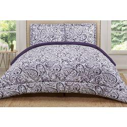Truly Soft Eggplant Watercolor Comforter Set