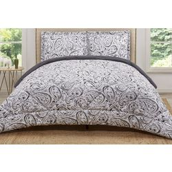 Truly Soft Grey Watercolor Comforter Set