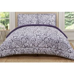 Truly Soft Eggplant Watercolor Comforter Set