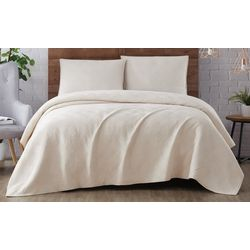 Brooklyn Loom Washed Rayon Basketweave Quilt Set