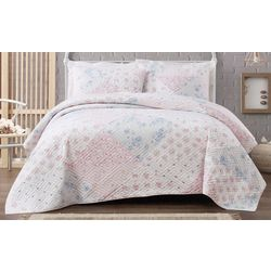 Cottage Classics Hallie Floral Quilt Set