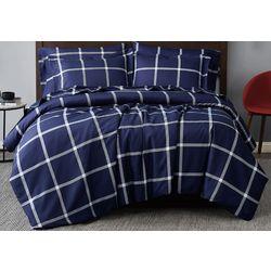 Truly Soft Windowpane Printed Comforter Set