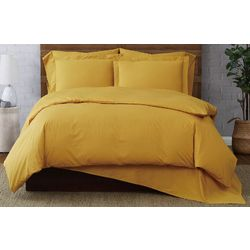 Brooklyn Loom Solid Cotton Percale Duvet Cover Set