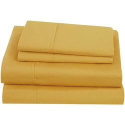Brooklyn Loom Solid Cotton Percale Sheet Set
