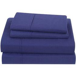 Sean John Solid Cotton Percale Sheet Set