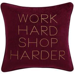 Christian Siriano Work Hard Decorative Pillow