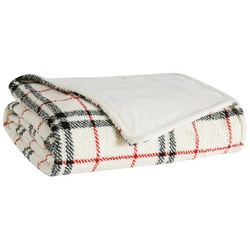 London Fog 50x60 Popcorn Plaid Plush Throw Blanket