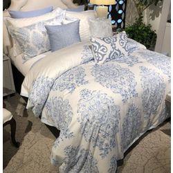 Charisma Home Meribel Embroidered Square Decorative Pillow