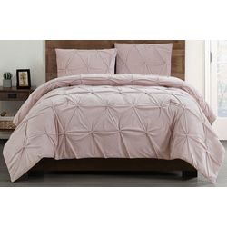 Truly Soft Pleated Velvet Comforter Set