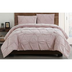 Pleated Velvet Duvet Cover Set