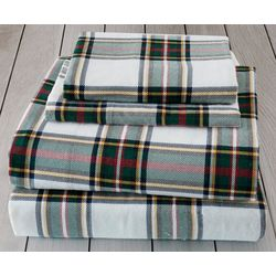 London Fog Multi Plaid Cotton Flannel Sheet Set