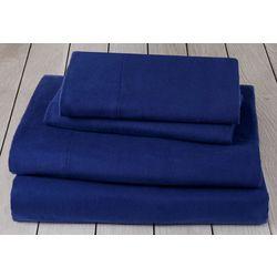 London Fog Solid Cotton Flannel Sheet Set