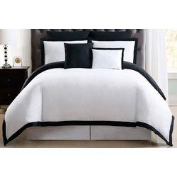 Truly Soft Everyday Hotel Border Black 7 Pc Duvet Set