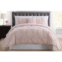 Truly Soft Arrow Pleated Twin XL Comforter Set