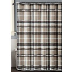 Truly Soft Paulette Plaid Shower Curtain