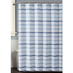Truly Soft Waffle Stripe Shower Curtain