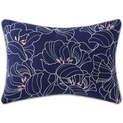Oceanfront Resort Indienne Floral Pillow