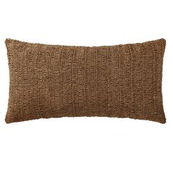 Oceanfront Resort Indienne Raffia Bolster Pillow