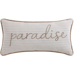 Oceanfront Resort Plantation Woven Stripe Pillow
