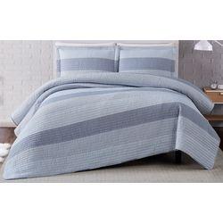 Truly Soft Grey Multi Stripe Quilt Set