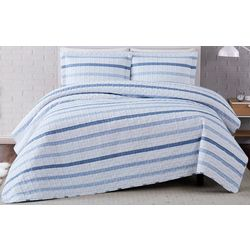 Truly Soft Waffle Stripe Quilt Set