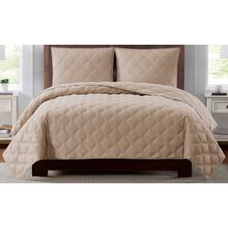 Truly Soft Everyday 3D Puff Quilted Quilt Set