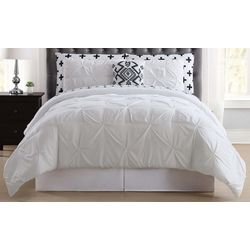 Truly Soft Pleated Crosses Comforter Set