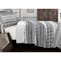 Triangle Home Hygee Geo Black/White Quilt Set