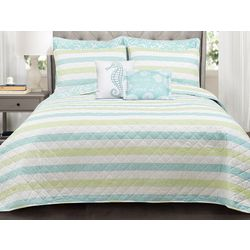 Triangle Home Sealife Stripe 7-pc. Quilt Set