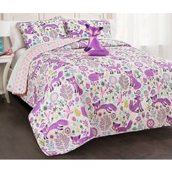 Triangle Home Fashions Pixie Fox Quilt Set