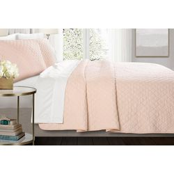Triangle Home Ava 3-pc. Diamond Oversized Quilt Set