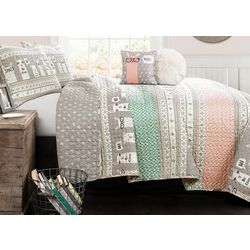 Triangle Home Llama Stripe Quilt Set