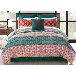 Triangle Home Bohemian Stripe Comforter Set
