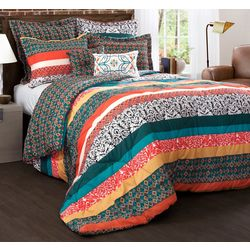 Triangle Home Fashions Boho Stripe Comforter Set